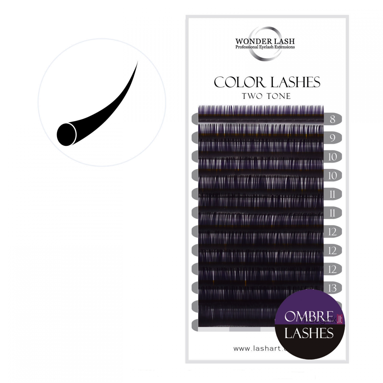 WonderLash Ombre C 0.20 VIOLETINĖ